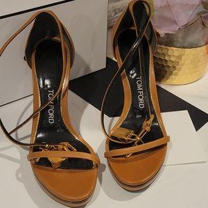 Tom Ford lock and key sandals - EUC